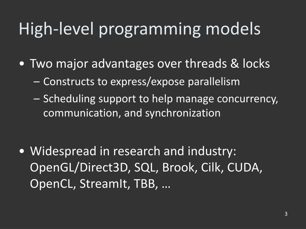 High-level programming models