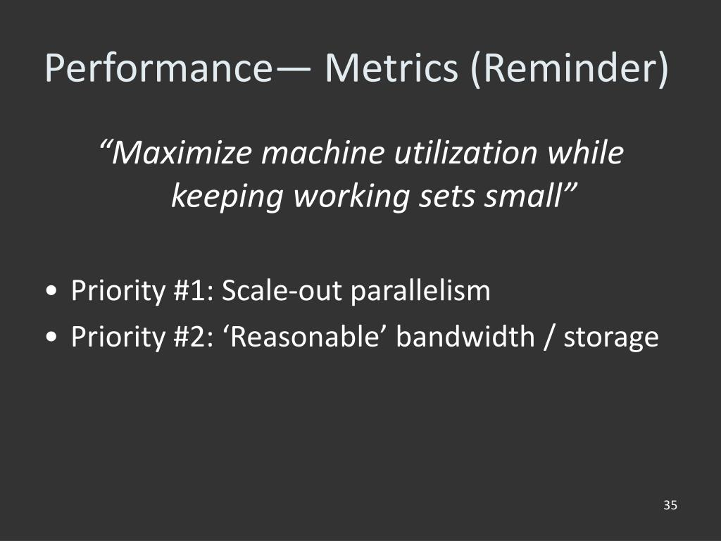 Performance— Metrics (Reminder)