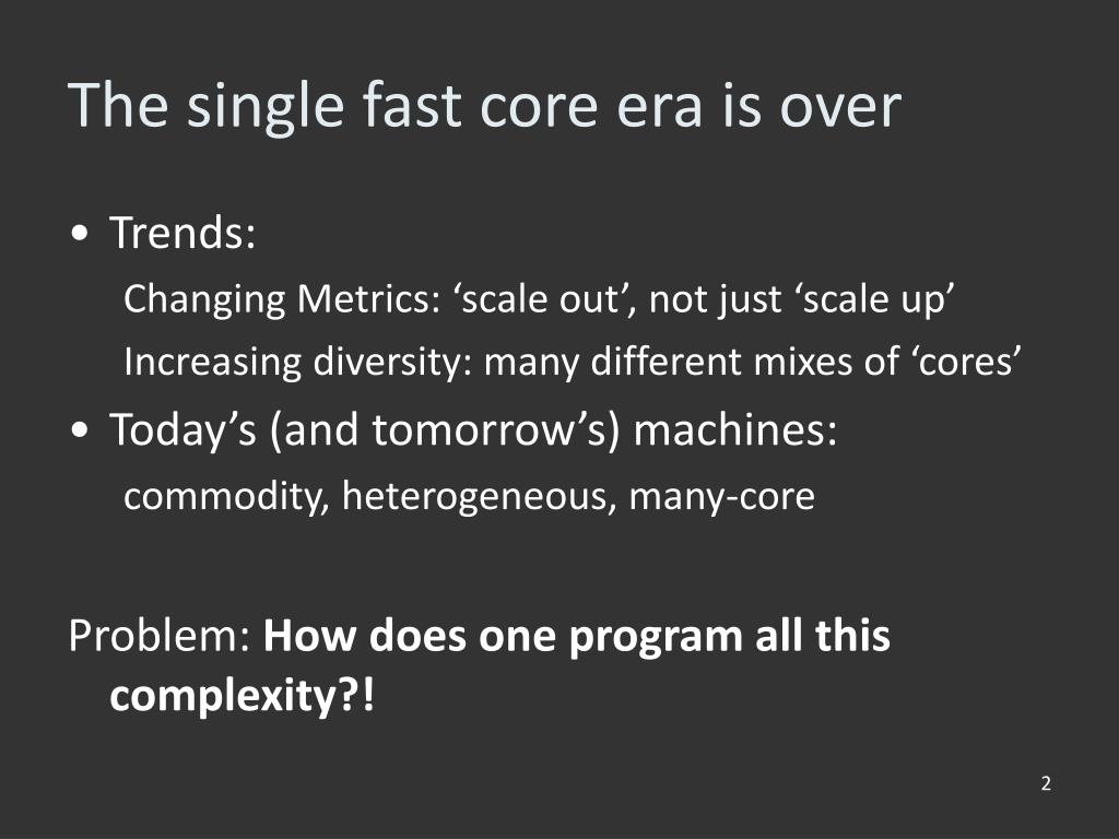 The single fast core era is over