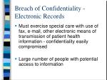 breach of confidentiality electronic records