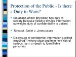 protection of the public is there a duty to warn