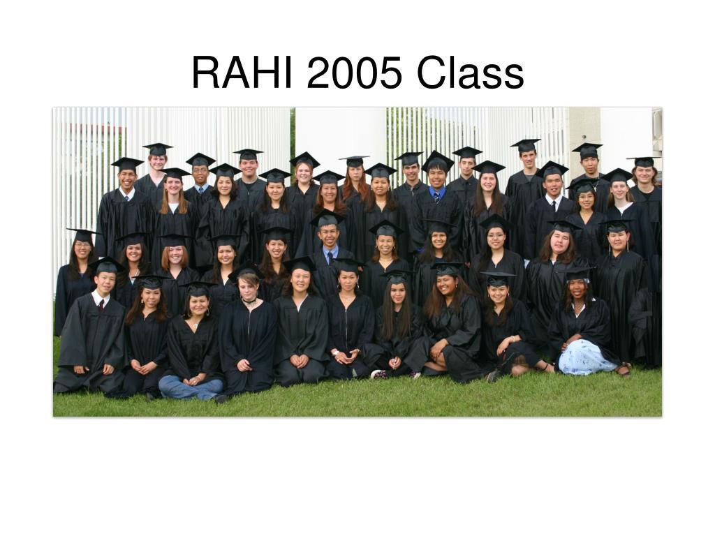 RAHI 2005 Class