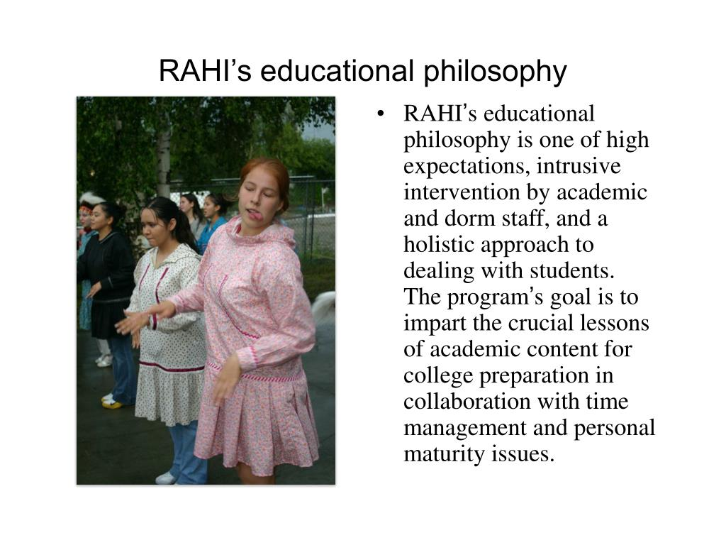 RAHI's educational philosophy
