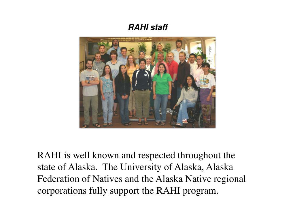 RAHI staff