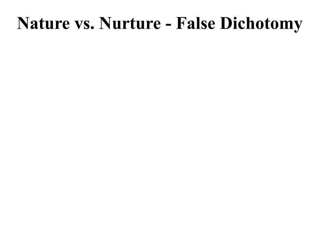 Nature vs. Nurture - False Dichotomy