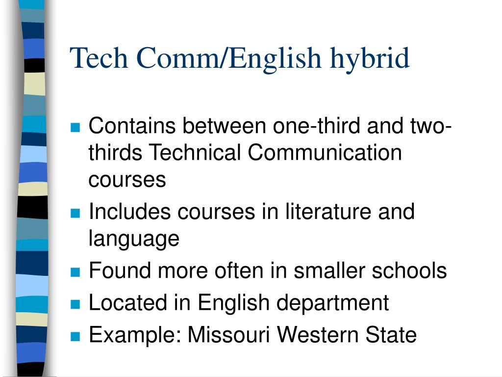 Tech Comm/English hybrid