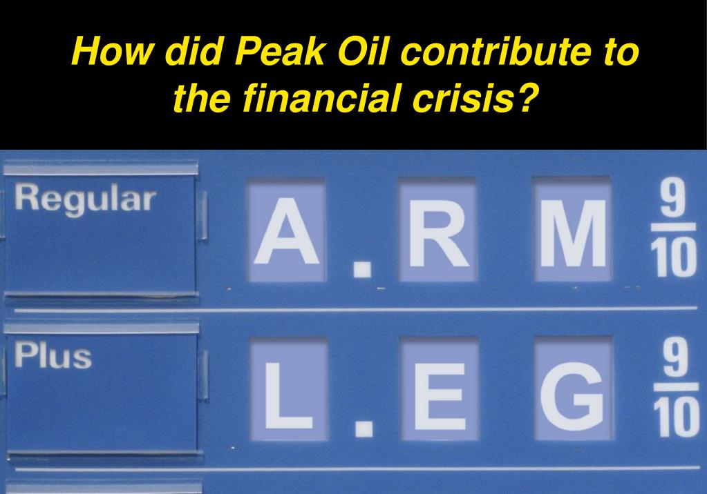 How did Peak Oil contribute to