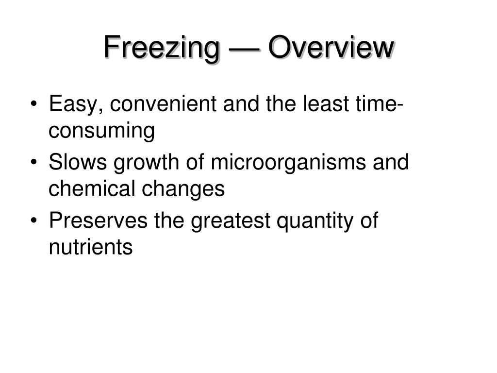 Freezing — Overview