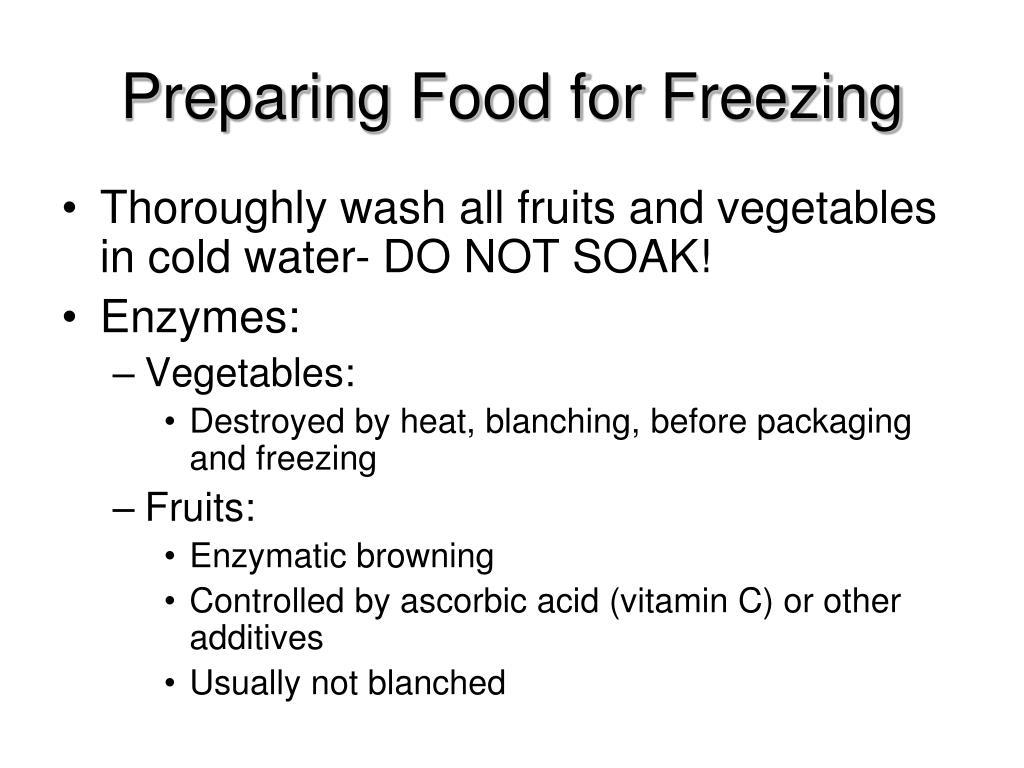 Preparing Food for Freezing