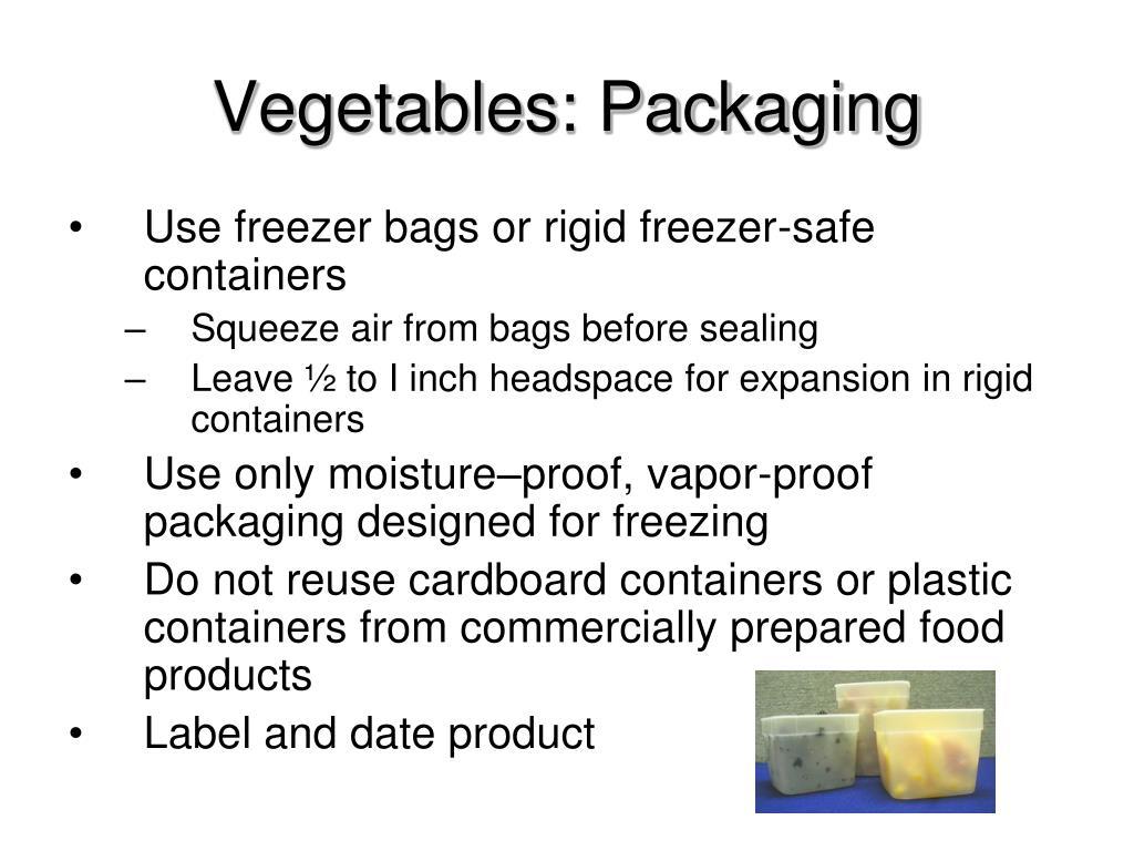 Vegetables: Packaging