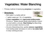 vegetables water blanching
