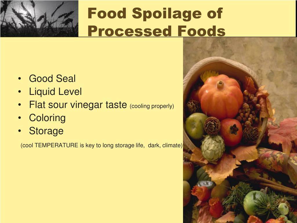 Food Spoilage of Processed Foods