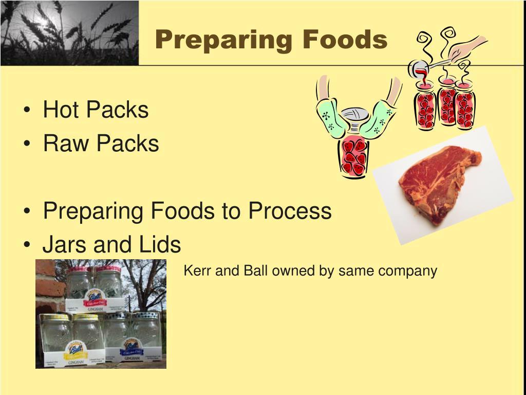 Preparing Foods