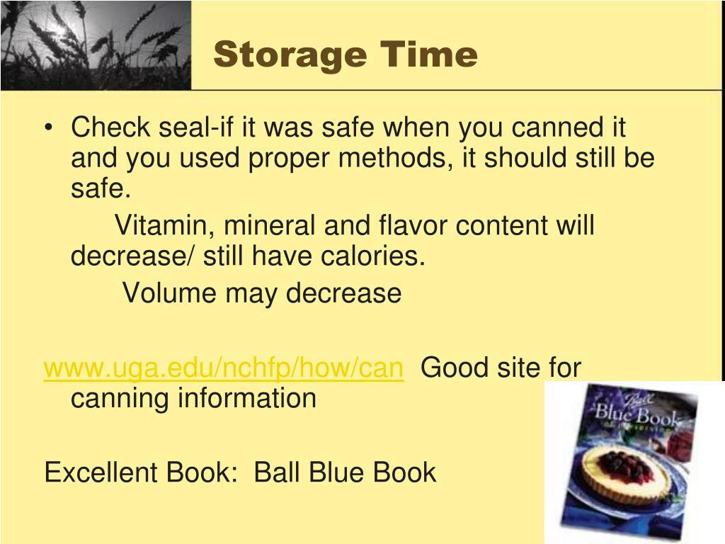 Storage Time
