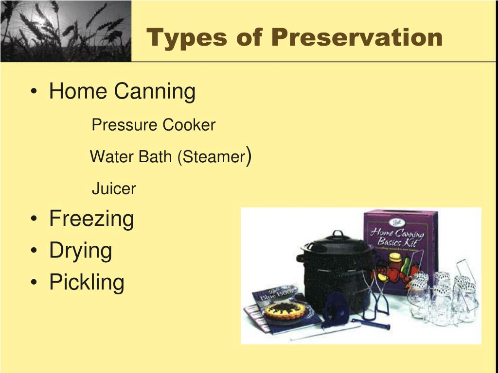 Types of Preservation