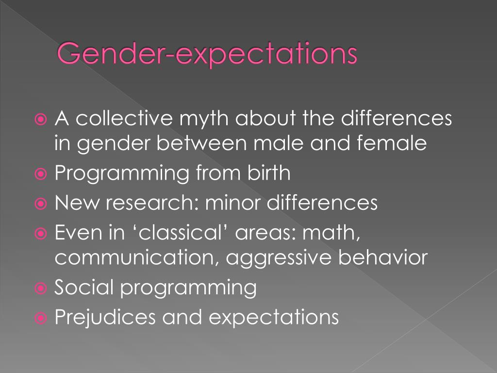 Gender-expectations
