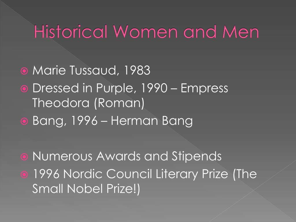 Historical Women and Men