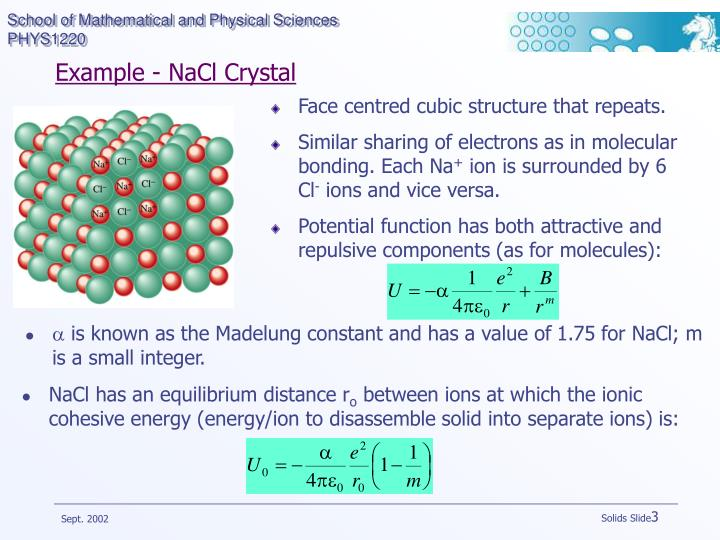 Example nacl crystal