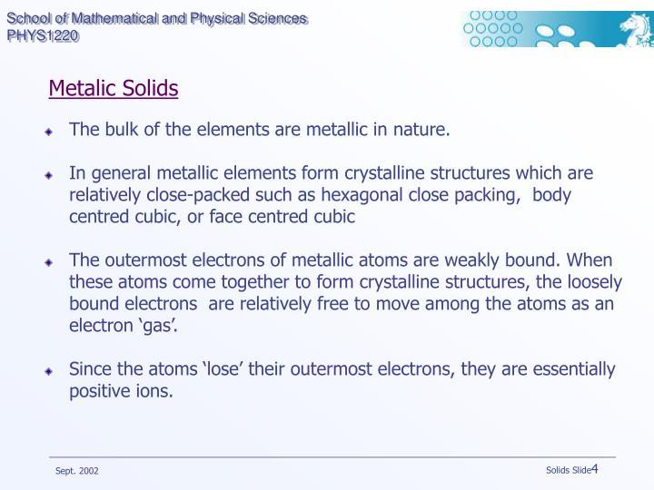 Metalic Solids
