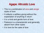 agape altruistic love