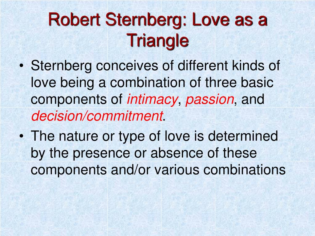 Robert Sternberg: Love as a Triangle