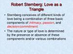 robert sternberg love as a triangle