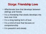 storge friendship love