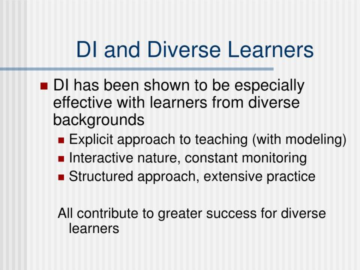 DI and Diverse Learners