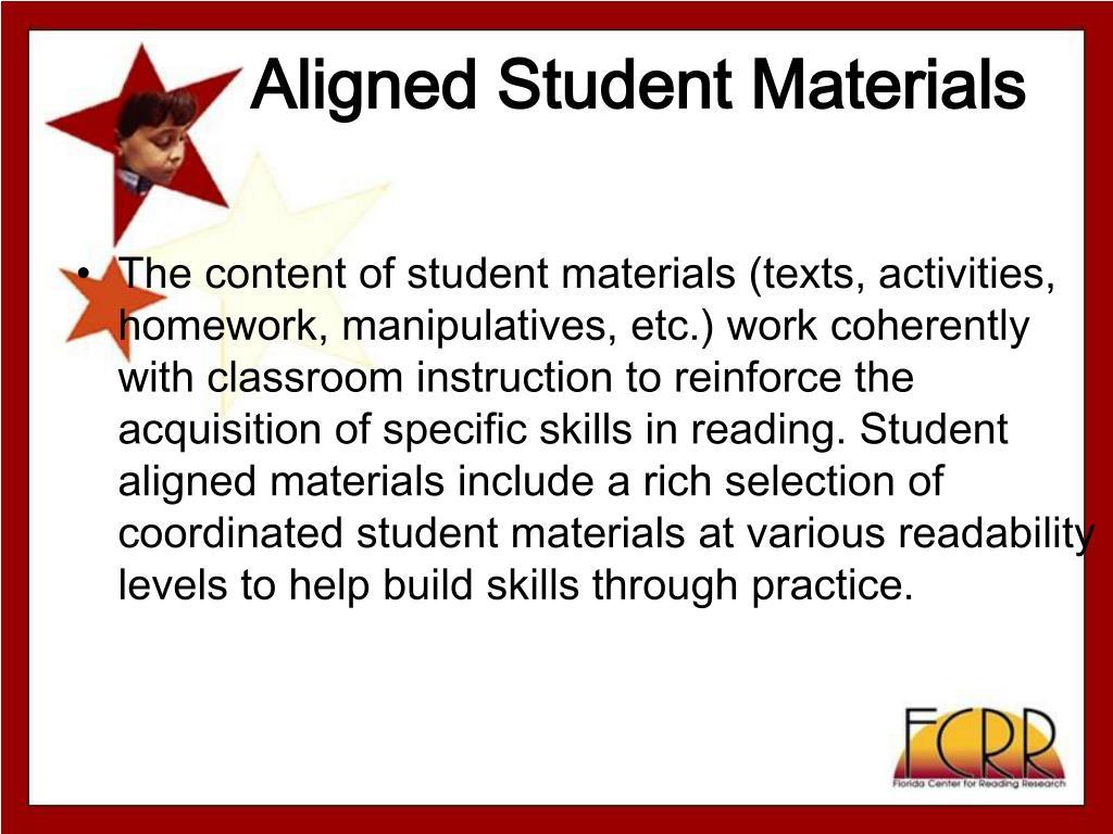 Aligned Student Materials