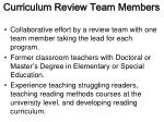 curriculum review team members