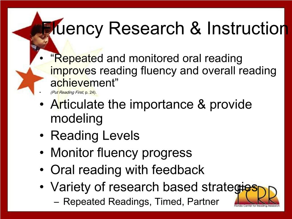 Fluency Research & Instruction