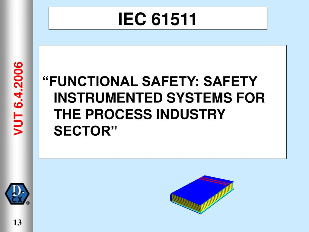 """FUNCTIONAL SAFETY: SAFETY INSTRUMENTED SYSTEMS FOR THE PROCESS INDUSTRY SECTOR"""