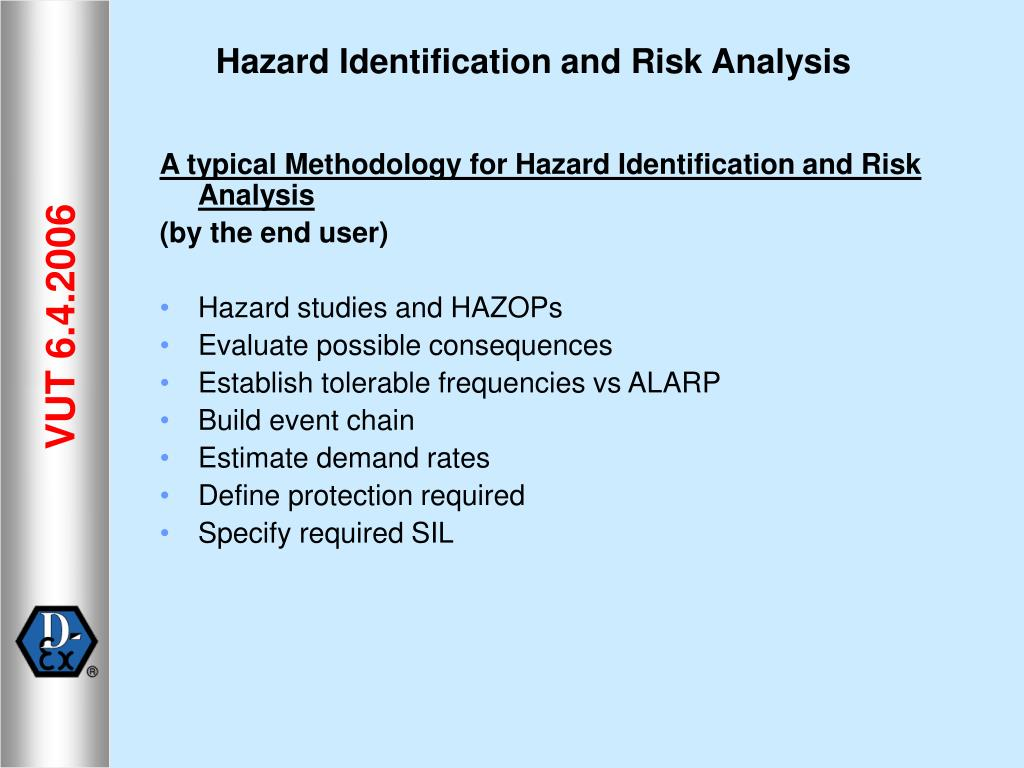 A typical Methodology for Hazard Identification and Risk Analysis