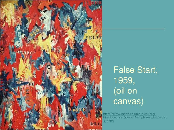 False Start, 1959,