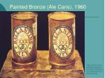 painted bronze ale cans 1960