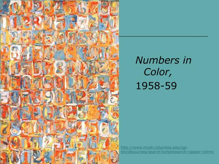 Numbers in Color,