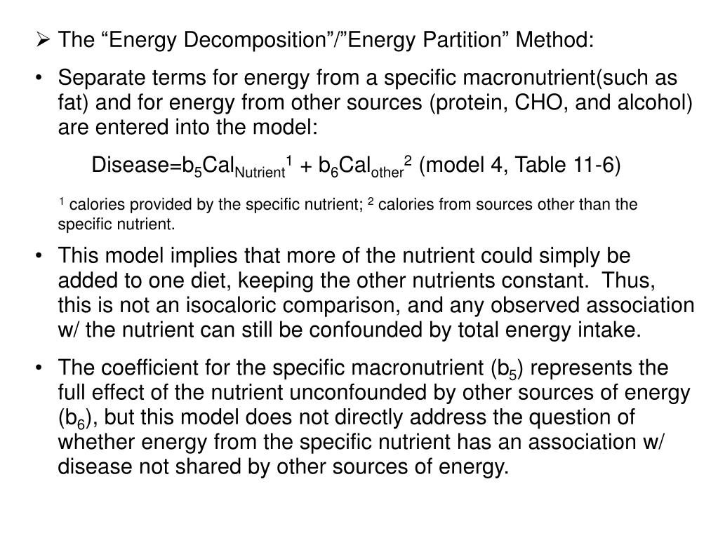 "The ""Energy Decomposition""/""Energy Partition"" Method:"