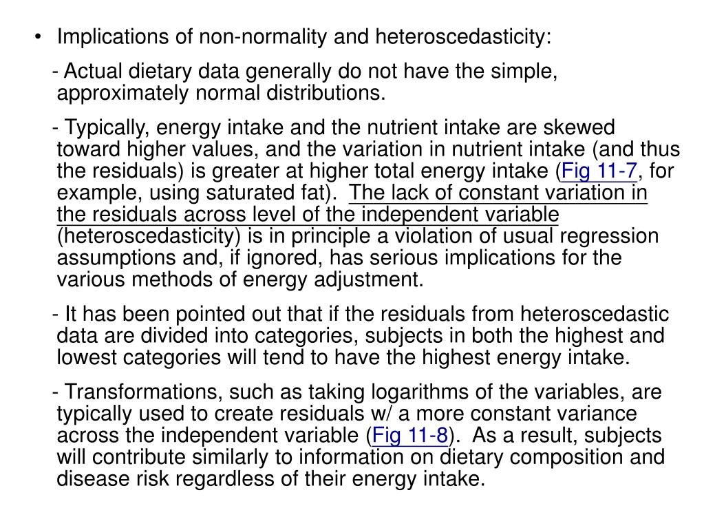 Implications of non-normality and heteroscedasticity: