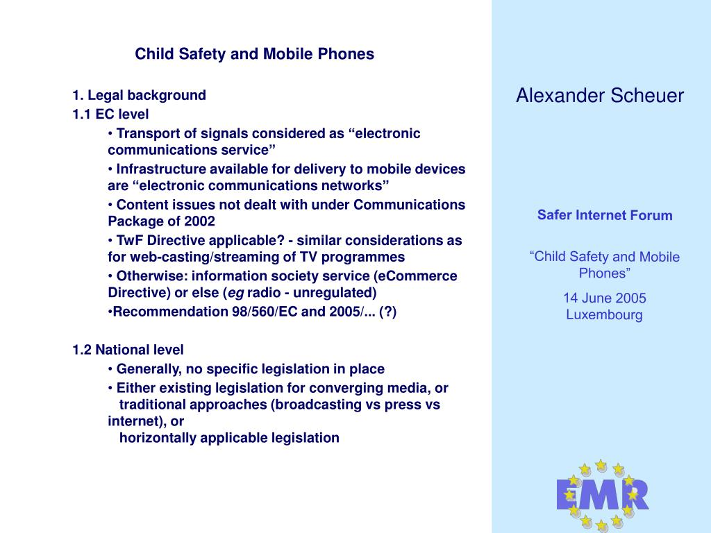 Child Safety and Mobile Phones