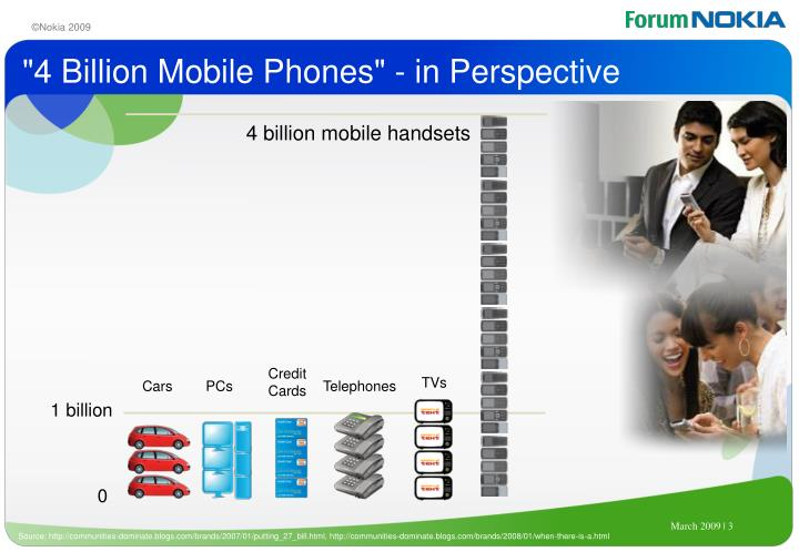 4 billion mobile phones in perspective