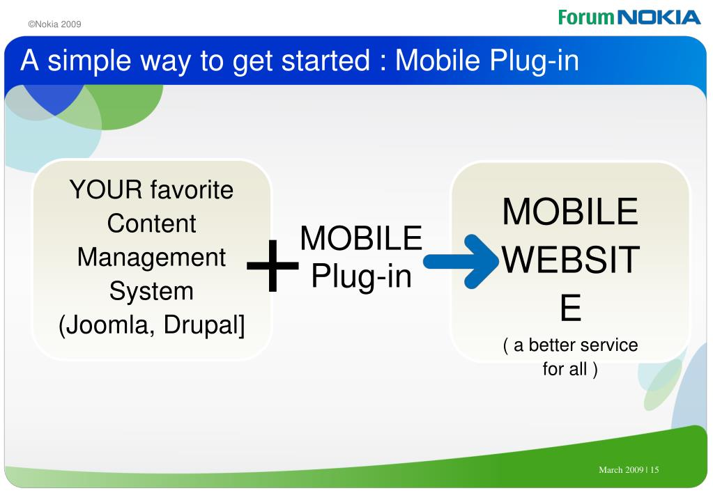 A simple way to get started : Mobile Plug-in