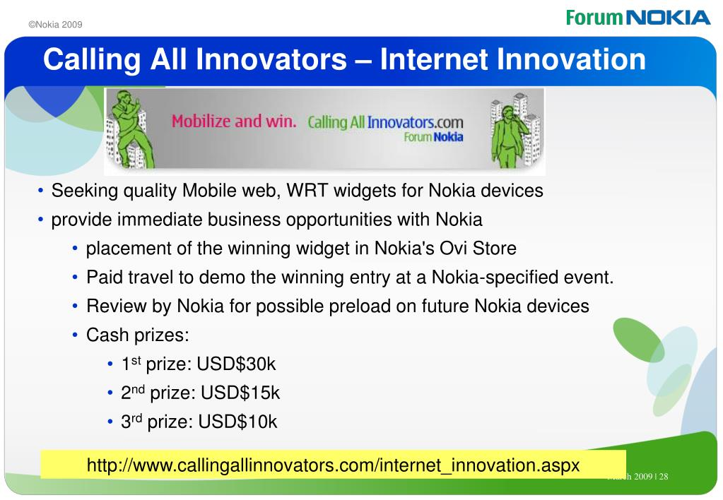 Calling All Innovators – Internet Innovation