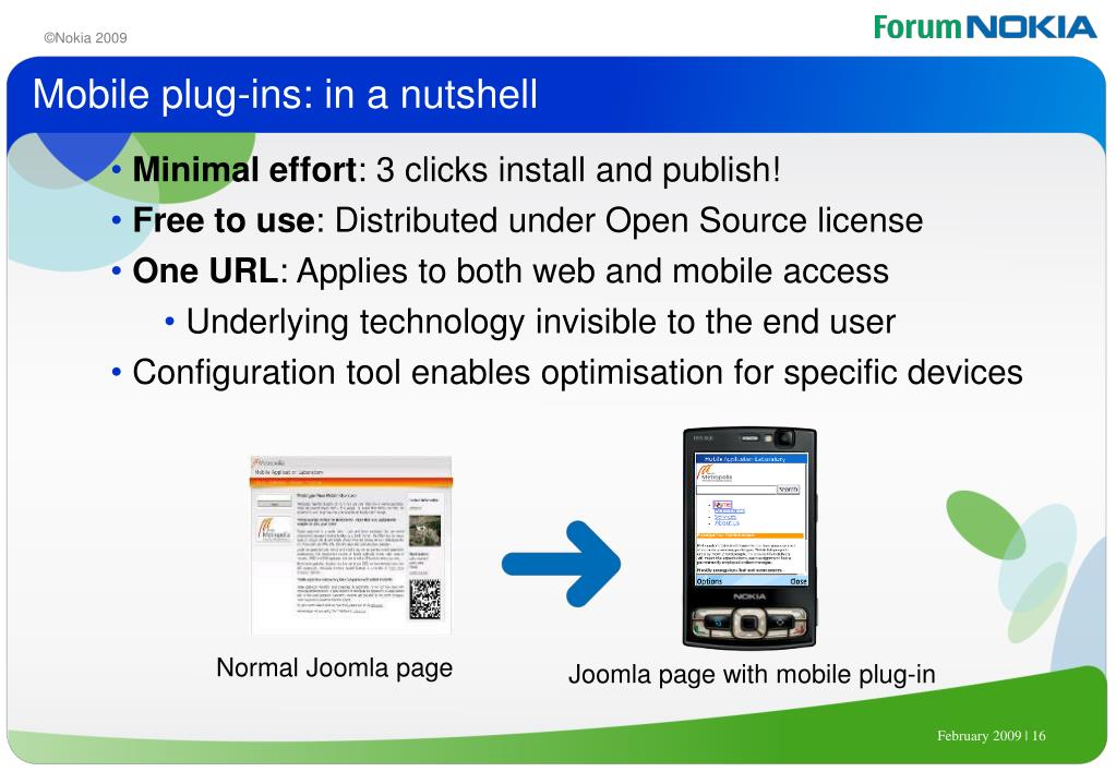 Mobile plug-ins: in a nutshell