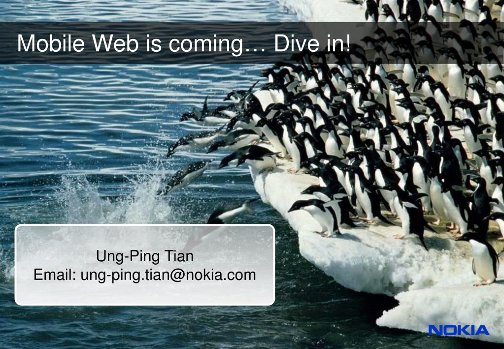 Mobile Web is coming… Dive in!