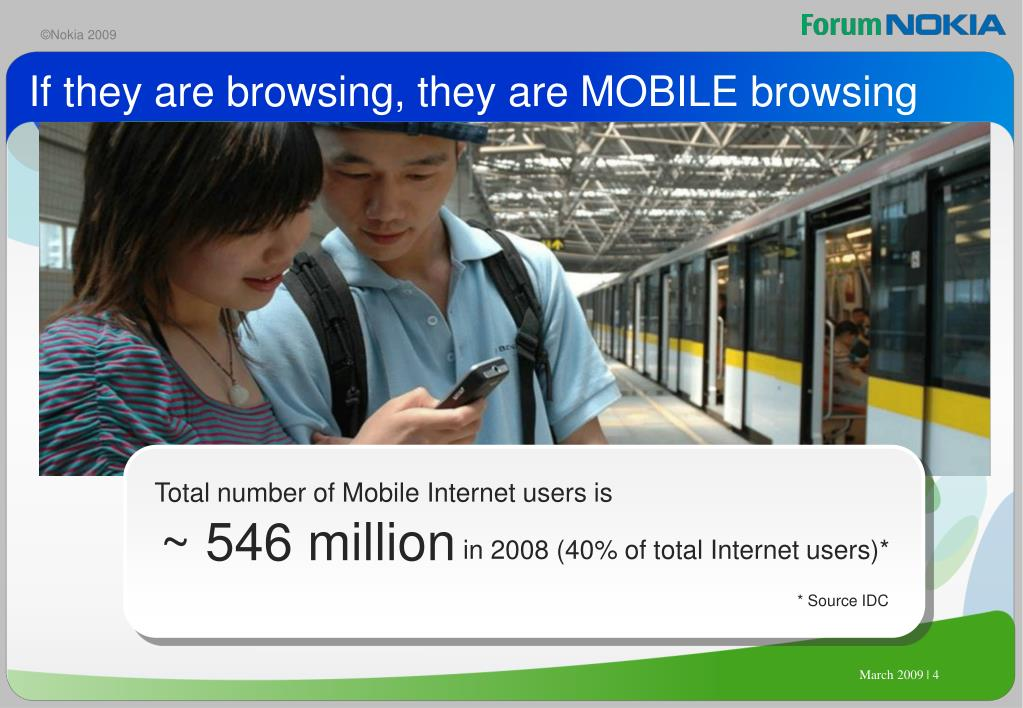 If they are browsing, they are MOBILE browsing