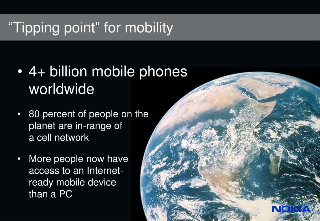 """Tipping point"" for mobility"