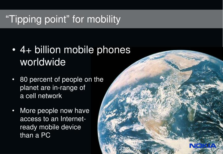 Tipping point for mobility l.jpg