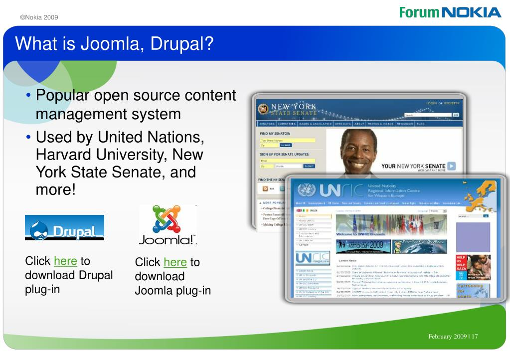 What is Joomla, Drupal?