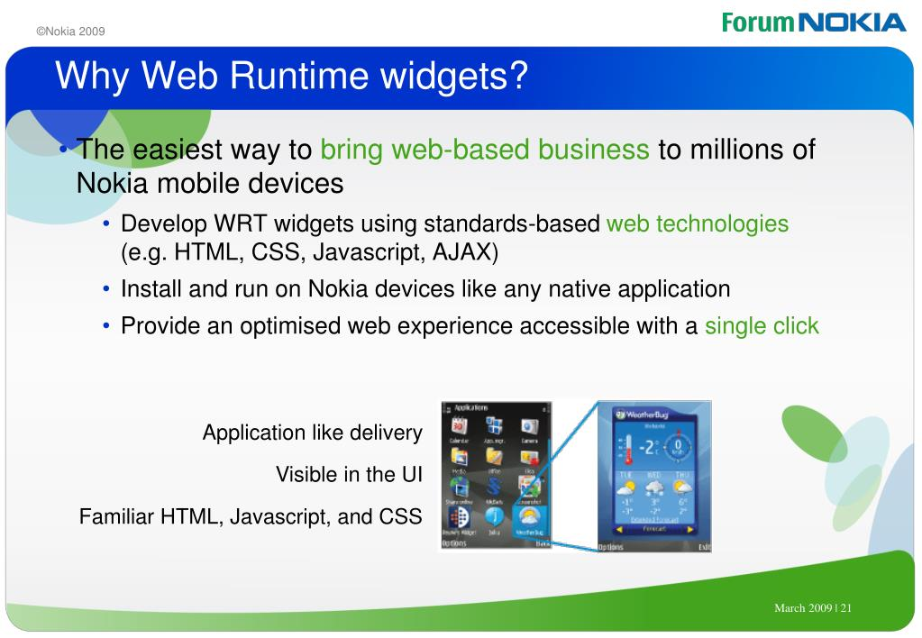 Why Web Runtime widgets?