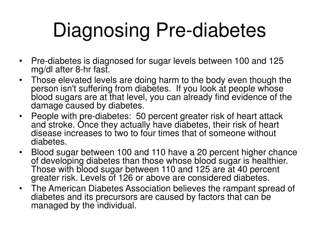 Diagnosing Pre-diabetes